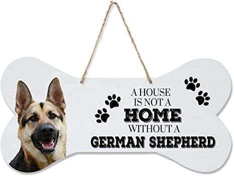 """DOG HANGING WALL PLAQUE SIGN Picture 8/"""" x 8/"""" Grey Wooden Kitchen House Welcome"""