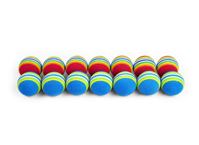 ELVES 14 pcs Elastic Sponge Indoor/Outdoor Golf Ball, Practice Ball/Golf Training Soft Balls,Golf EVA Ball,Golf Accessories