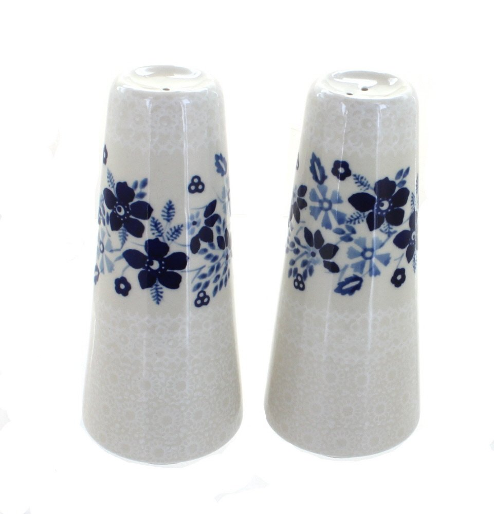 Blue Rose Polish Pottery Christiana Salt & Pepper Shakers by Manufaktura