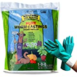 Unco Industries Worm Castings Organic Fertilizer, Wiggle Worm Soil Builder, 4.5-Pounds [Bundled with Pearsons Garden…