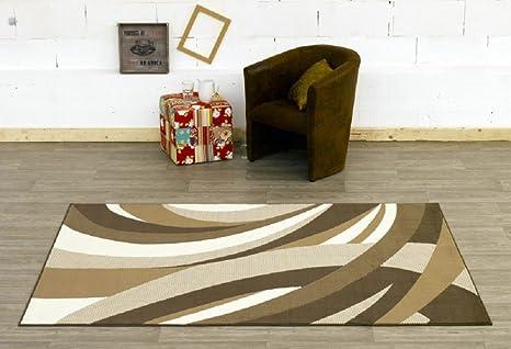 Tappeto gedrehtes modello marrone beige tappeto moderno soggiorno