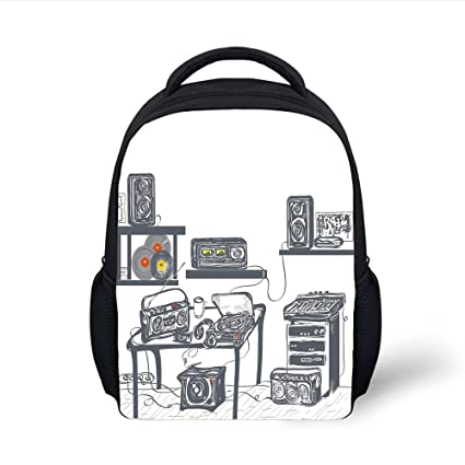 718f511d6f8f Amazon.com: iPrint Kids School Backpack Modern,Recording Studio with ...