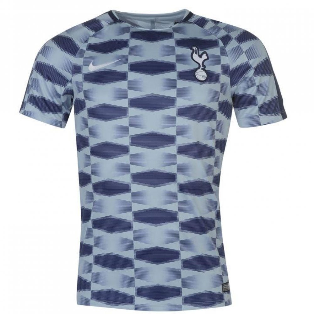 Nike 2017-2018 Tottenham Pre-Match Training Football Soccer T-Shirt Trikot (Blau)