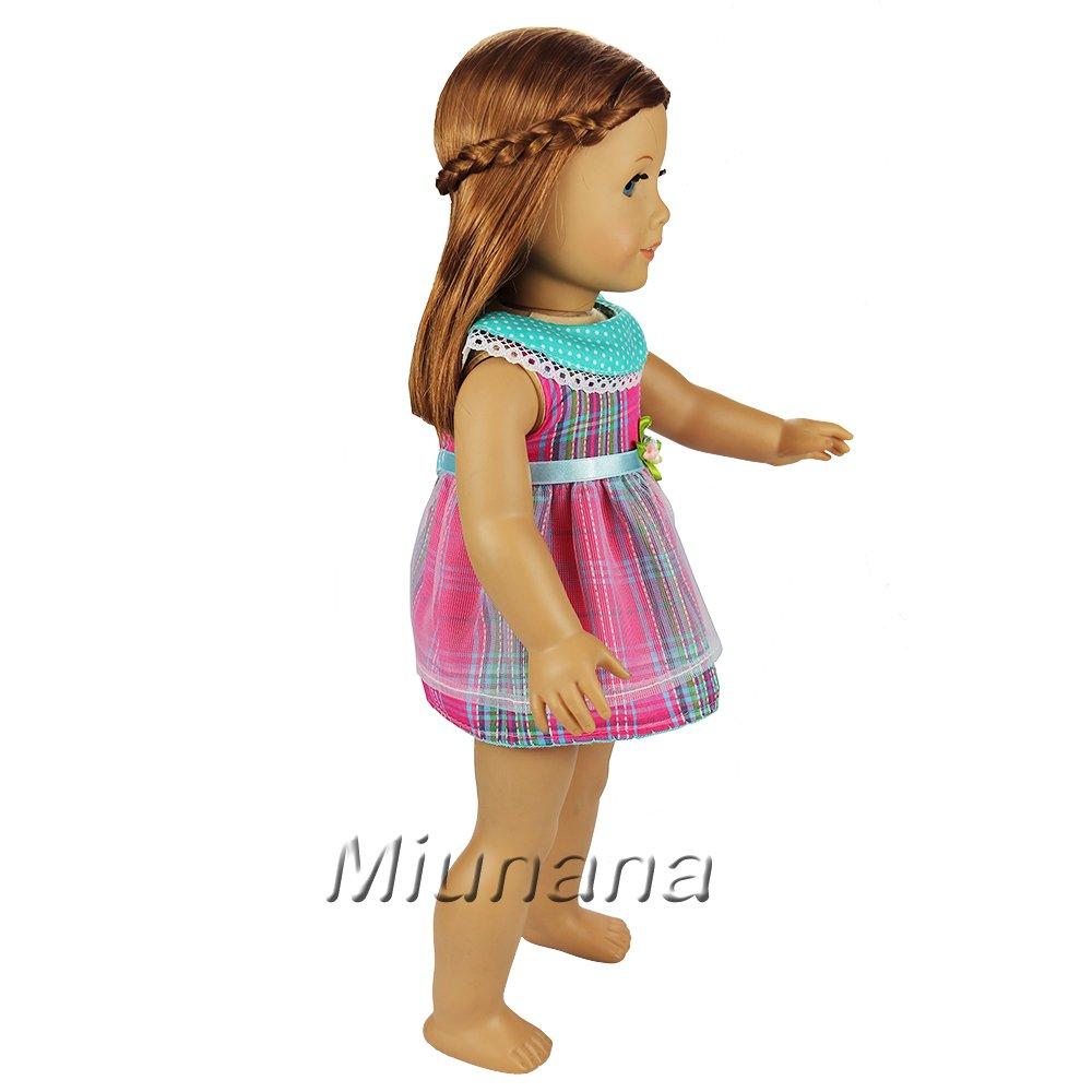 Bambole vestiti si adatta Hannah /& Jessica 46-50cm Gross ABITINO Fiore