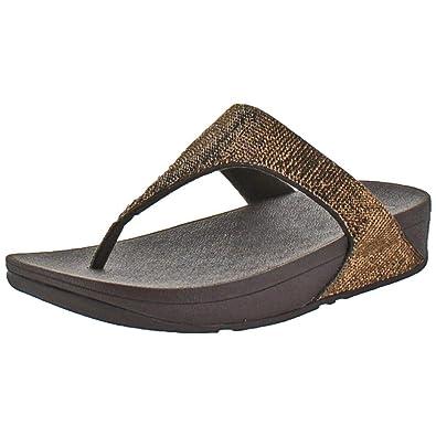 270d7db2b FitFlop Women s Electra Micro Toe Post Thong Sandal Bronze Size 8