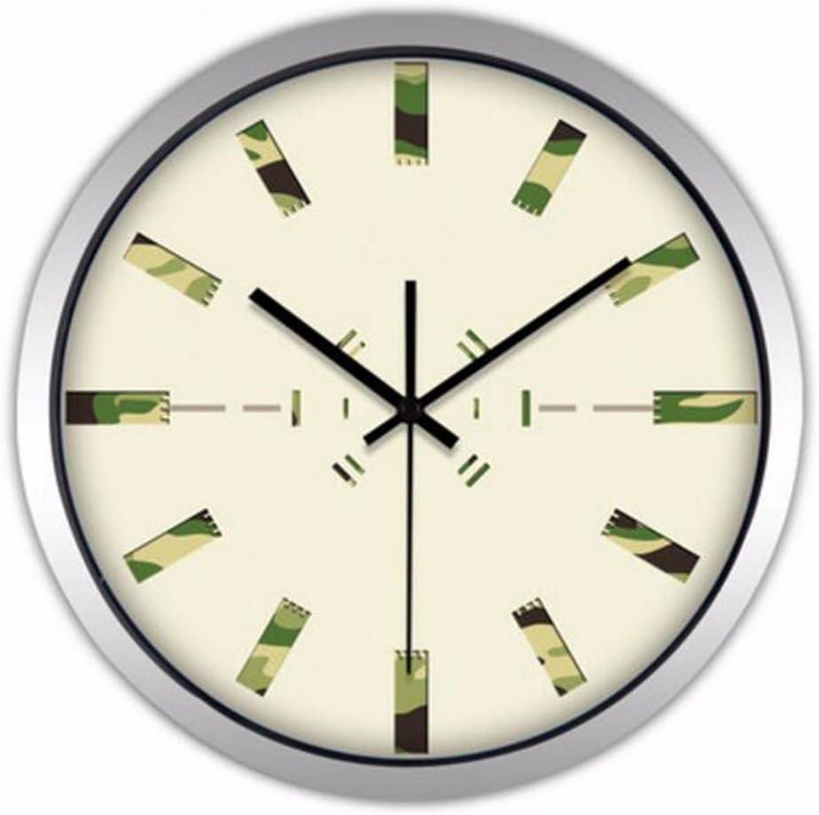 Reloj De Pared El Nordic Modern Creative Fashion Salon Grande Reloj De Pared Simple Mudo Azul Anillo Reloj De Cuarzo Reloj,S