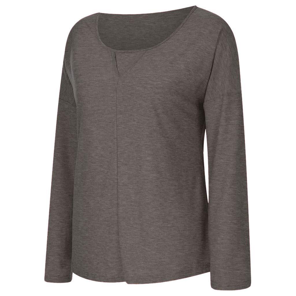 Autumn Women Round Neck T-Shirt Casual Long Sleeve Tee Shirts Ladies Blouse Autumn Fashion Womens 2019