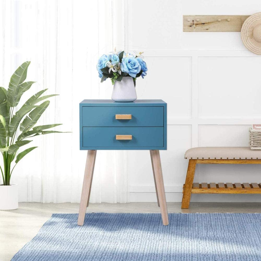 Mesita madera azulada