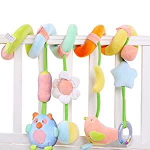 SKK BABY Infant Crib Toy Stroller Activity Spiral and Travel Toy Green