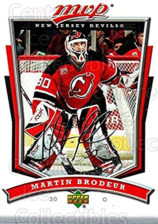a8f619eff Amazon.com  (CI) Martin Brodeur Hockey Card 2007-08 Upper Deck MVP ...