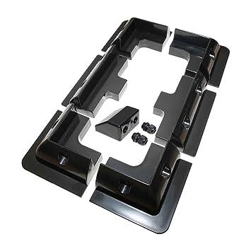 Lowenergie Juego de 7 piezas de soporte de montaje de panel solar negro rectangular para caravanas, autocaravanas, barcos y cualquier superficie plana: ...
