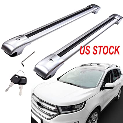 Amazon Com Motorfansclub Roof Rack Cross Bar For Ford Edge   Top Roof Rail Luggage Cargo Rack Rails With Cars Aluminum Alloy Automotive