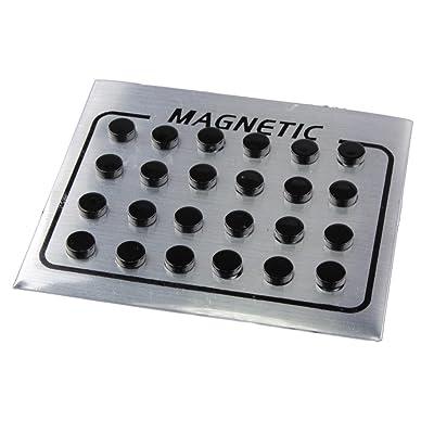 Baosity 12 Pares Perno Pendientes de Imanes - 6 mm Negro (12 pares): Juguetes y juegos