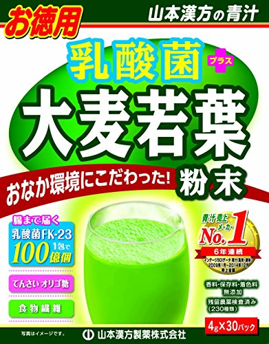 (Lactic acid bacteria young barley grass powder 100% | Powder Stick | Improve gastrointestinal environment | Food Fiber | Diet |  4g x 30)
