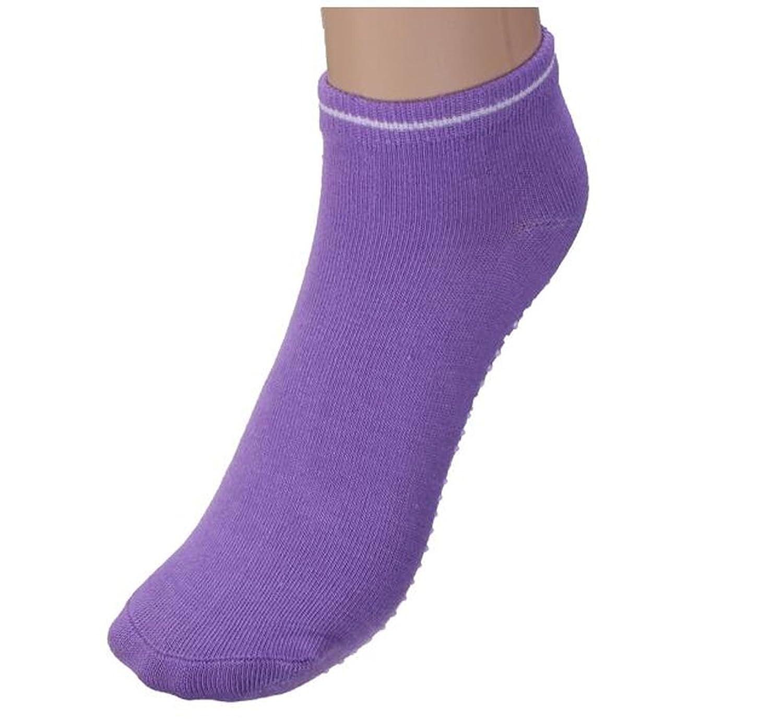 4 Pcs Multicolor Cotton Dots Non Slip Yoga Socks Sports Gym Dance Foot Massage Socks For Women Girls