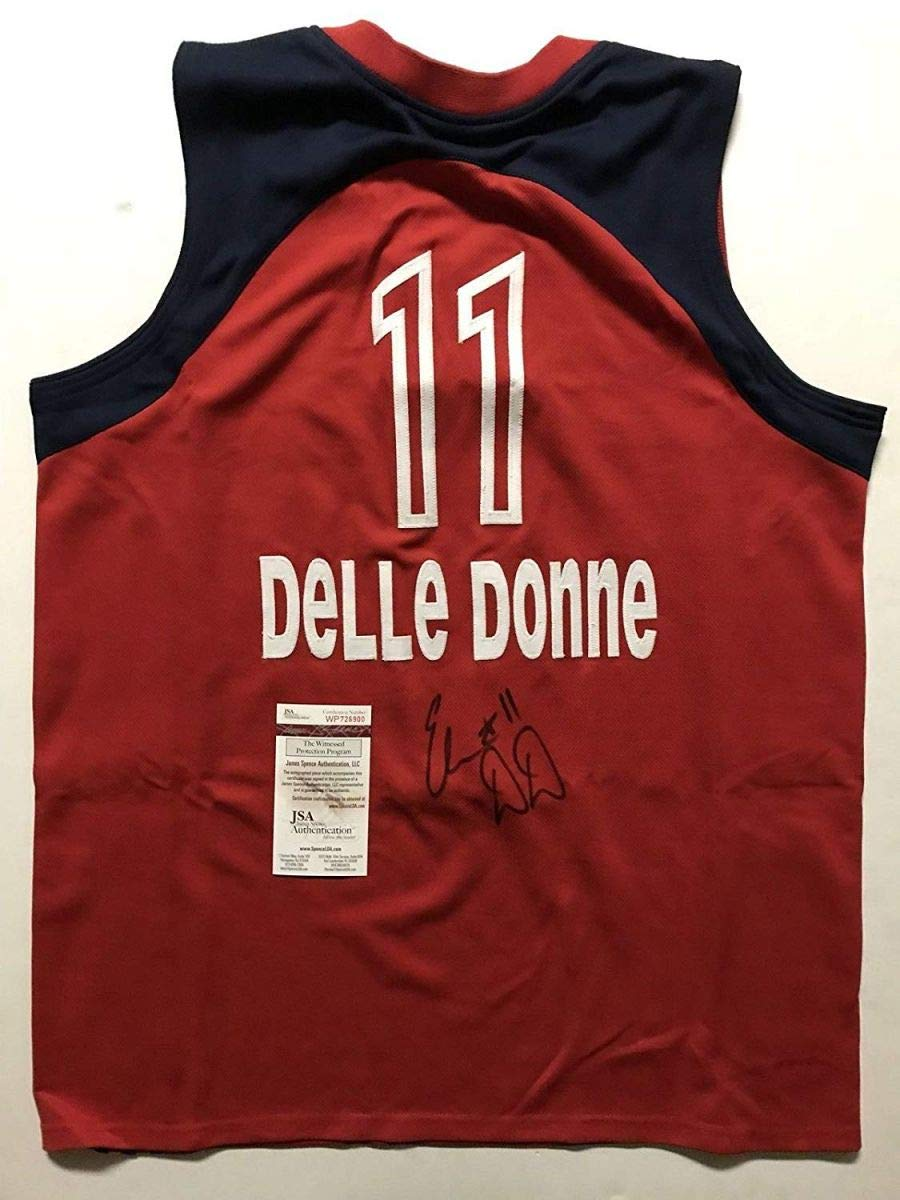 521a509782dbe Autographed/Signed Elena Delle Donne Washington Mystics Red ...