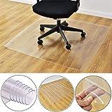 Q&Z PVC Chair Mat,Transparent Chair Cushion 1.5mm Thick Eco Hard Floor Protector Non-Slip Office Computer Chair Carpet Floor Mat Multiple Sizes