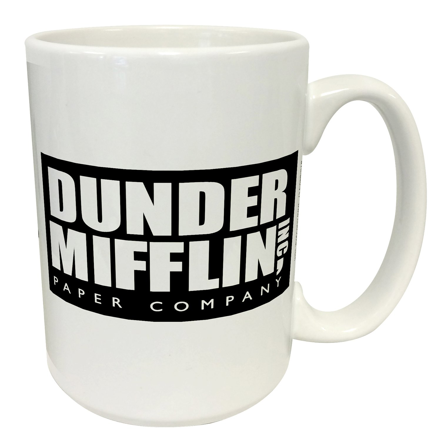 Dunder Mifflin (The Office) World's Best Boss TV Television Show Ceramic Gift Coffee (Tea, Cocoa) 15 Oz Mug, By CulturenikOfficially Licensed from NBC/Universal TV. 15 Ounce