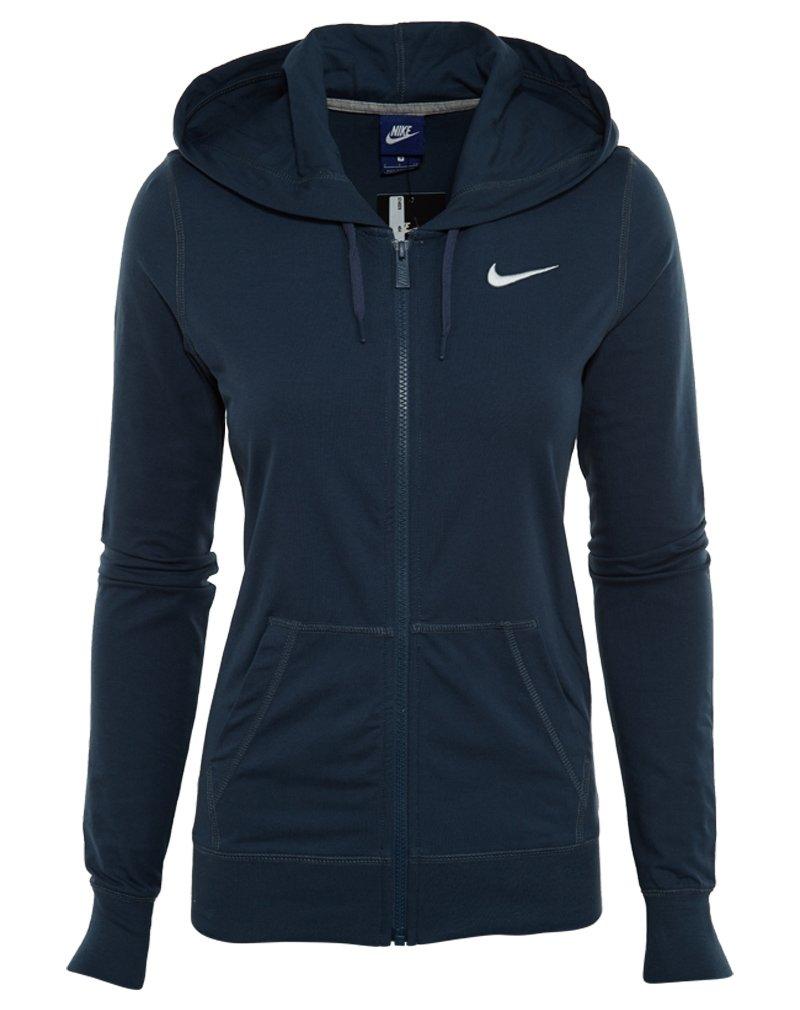 Nike Women's Solid Jersey Full-Zip Hoodie #614829-464 (L)