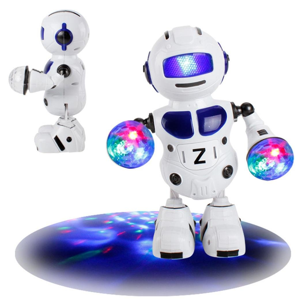 Mamum Electronic Walking Dancing Smart Bot robot Astronaut Kids Music Light Toys taglia unica Blue Dazzle le luci e danza robot giocattoli