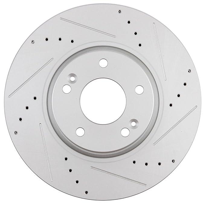 Scitoo Frontal 300 mm Rotores de Freno Discos de Freno Kit para Hyundai Sonata Tucson velostar, Kia Forte Optima Sportage: Amazon.es: Coche y moto