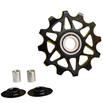 Pack de dos rodamientos de cerámica motos Ganopper estrechas anchas desviador polea de aleación trasero desviador