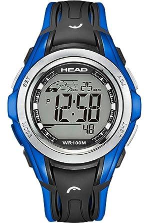 HEAD Reloj Digital para Mujer de Cuarzo con Correa en Caucho HE-108-02: Amazon.es: Relojes