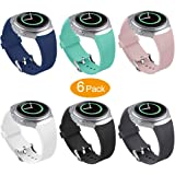 Bands Compatible Samsung Gear S2 Watch, NaHai Soft Silicone Replacement Sport Strap Wristbands Samsung Gear S2 Smart Watch, SM-R720/SM-R730 (Y-6 Pack)