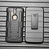 Cocomii Robot Armor ZTE Axon Pro Case NEW [Heavy Duty] Premium Belt Clip Holster Kickstand Shockproof Hard Bumper Shell [Military Defender] Full Body Dual Layer Rugged Cover for ZTE Axon Pro (R.Black)
