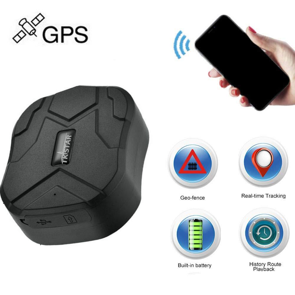 Tiempo Real Portátil Localizador GPS, Incluye Tarjeta SIM con Plan de Datos para Seguimiento vehículo Coche Personal GPS Tracker Batería 10000mAh ...