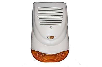 Sirena Alarma Antirrobo autoalimentada de exterior 120dB ...