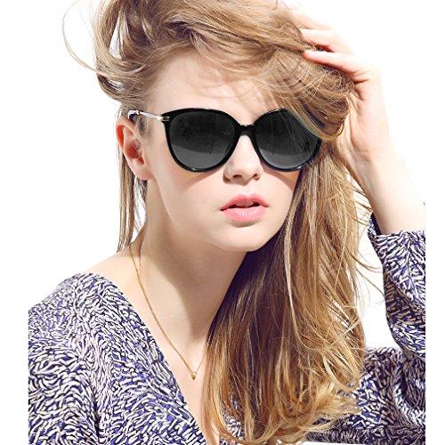 Women's Polarized Sunglasses Cat Eye Sunglasses Aviator Wayfarer Sunglasses Case (black, As - Snow For Sunglasses Glare
