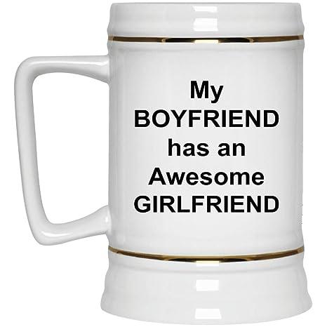 Presents For My Boyfriends 21st Birthday Source Amazon Com Boyfriend Girlfriend Beer Stein 22 Oz Gold Trim