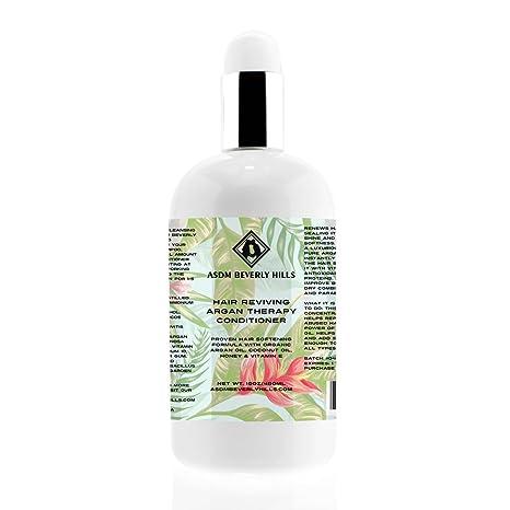 Acondicionador para el cabello de Argán – Con aceite de coco, Vitamina E y Vitamina
