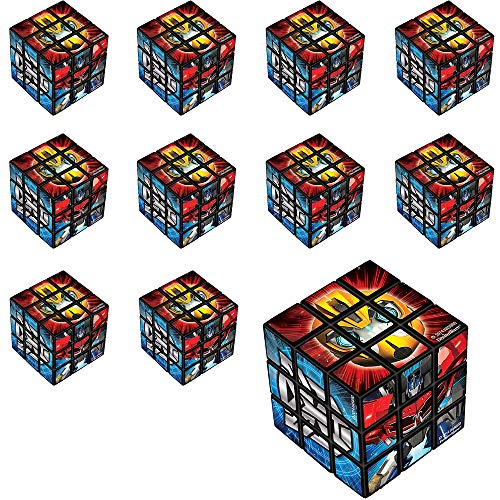 Party City Transformers Puzzle Cubes, 24 Count, Classic Puzzle Party Favors Feature Optimus Prime, Bumblebee, and More -