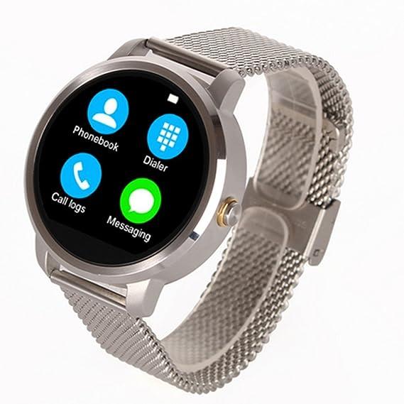 Amazon.com: Hipipooo V360 Round Smartwatch Calorie Pedometer ...