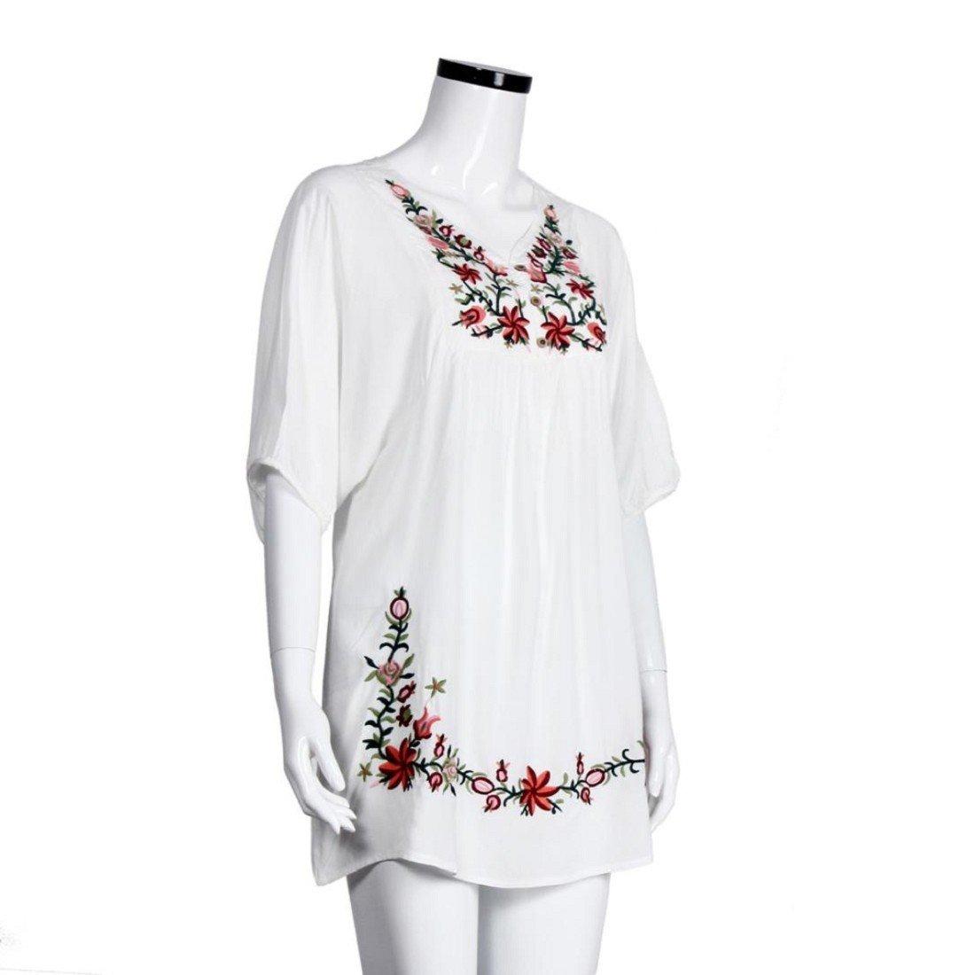 Tongshi De mujeres de origen campesino bordado de la blusa del ...