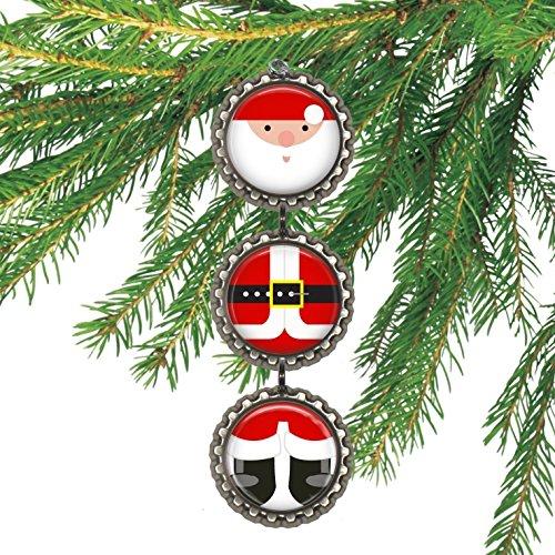 Santa Clause Bottlecap Christmas Ornament