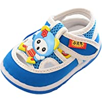 JIA&DI Baby Boys Sandals, Infant Kids Baby Boys Girls Cartoon Anti-Slip Shoes Soft Sole Squeaky Sneakers