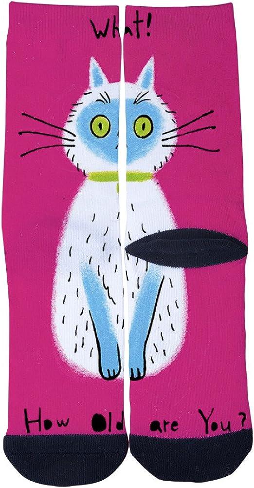 Cats Asking Questions Socks AlyGoo 3D Print Funny Custom Crew Casual Socks