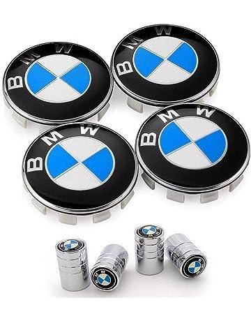 SFONIA 7-Set Carbon Fiber Front Rear Bonnet Emblem Hub Center Caps Steering Wheel Centre Emblem 1 * 82MM+1 * 73MM+4 * 68MM+1 * 45MM