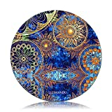 Mouse Pad (9.8 inch x 9.8 inch) ,Lizimandu Premium Quality Pattern Anti Slip Computer PC Round Mouse Mat Soft Comfort Feel Finish(Blue Flower)
