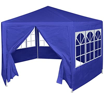 vidaXL Marquee with 6 Side Walls Blue 6.6'x6.6': Garden & Outdoor