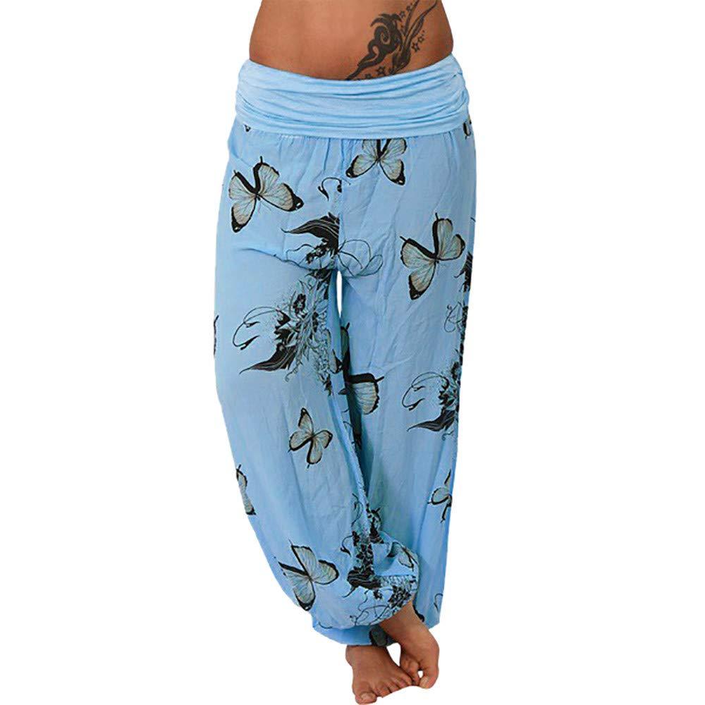 Foncircle Women Pants APPAREL レディース B07KVHT8R8 ブルー XX-Large