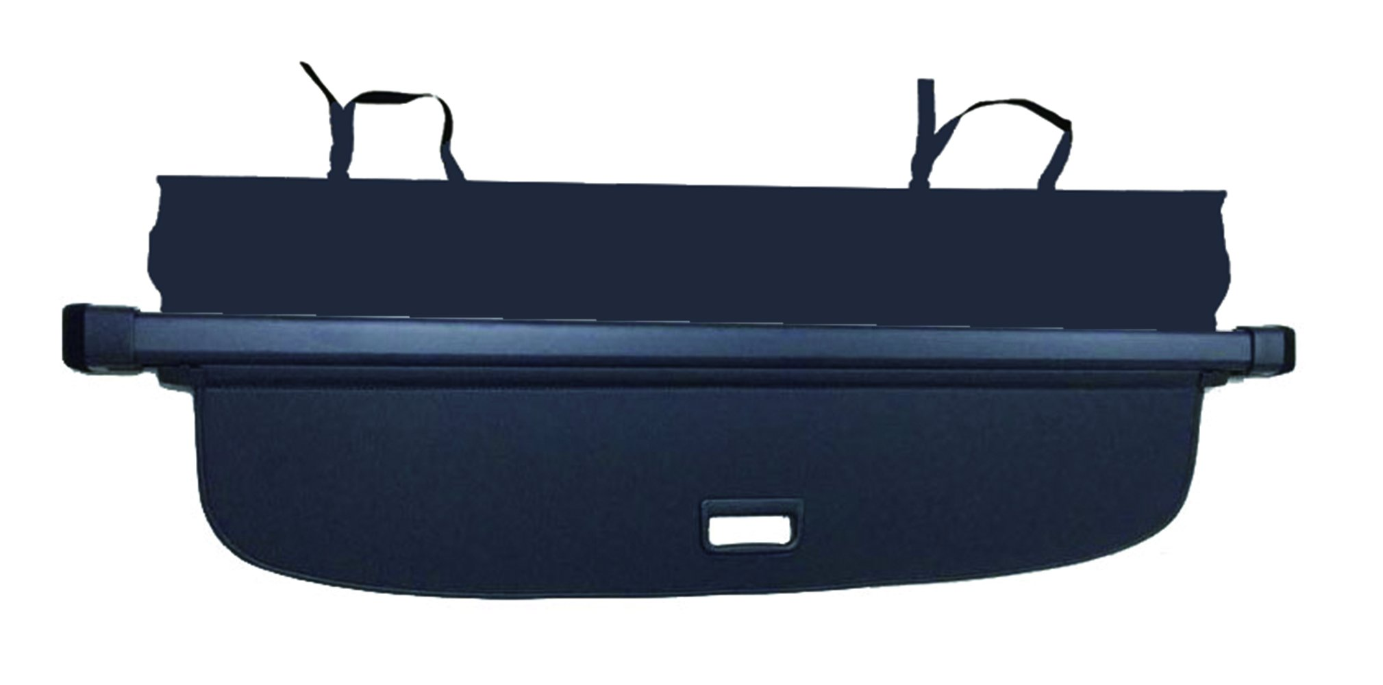 Cargo Cover for VW Volkswagen Tiguan 2018-2019 Black Trunk Shielding Shade by Kaungka(Upgraded version:There is no gap between the back seats and the cover (Black)