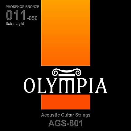 Olympia calidad cuerdas para guitarra acústica 11-50 heridas de ...