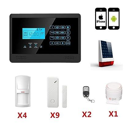 ABTO 100 Wireless y 4 zonas de la defensa con conexión de cable del sistema de alarma de su casa GSM con teclado táctil / voz Las funciones Preguntar ...