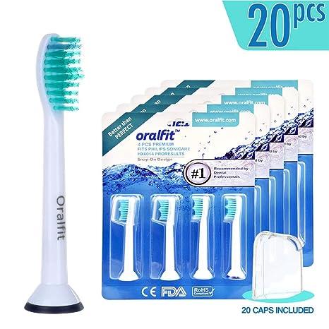 Standard – Cabezales para cepillo de dientes eléctrico Philips Sonicare ProResults HX6014/13 (4