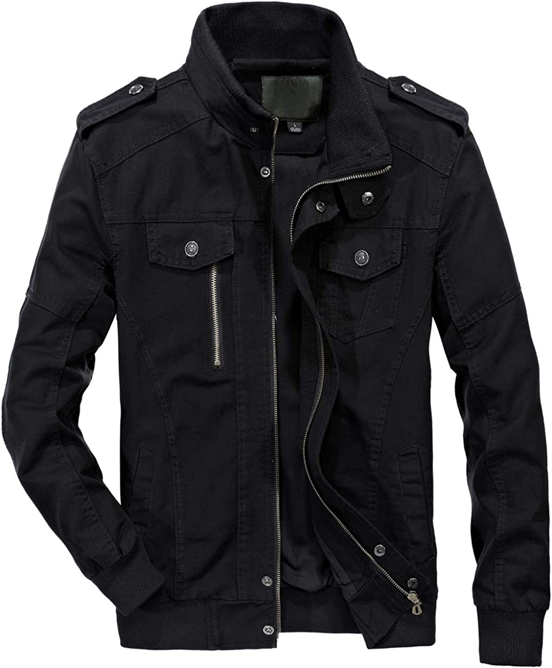 chouyatou Men's Essential Cotton Beauty products Bomber Super sale period limited Lightweight Jacket