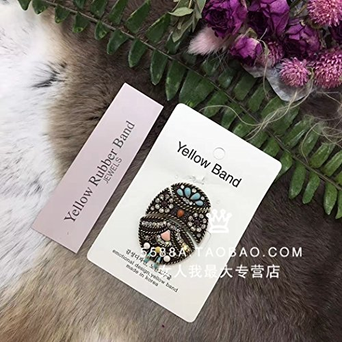Brooch Mosaic Pin (TKHNE Purchasing special Shopping (Hot retro wild 2018 winter diamond drill beads mosaic brooch pin badge corsage)